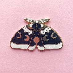 d5d9f1f519b66 Black MoonMoth hard enamel lapel pin