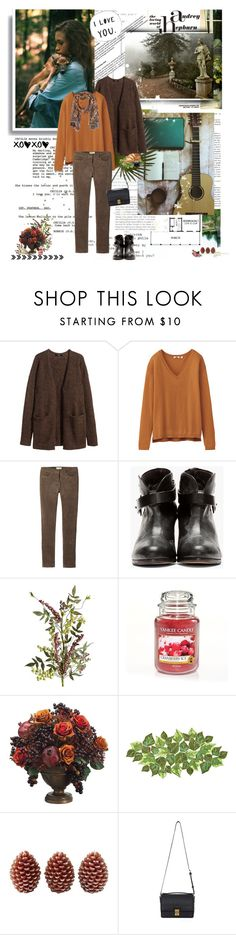 """""""Just came to say hi! (from cold Macedonia, brr)"""" by ljubam ❤ liked on Polyvore featuring moda, ...Lost, Nikko, H&M, Uniqlo, Toast, rag & bone, Pier 1 Imports, Yankee Candle y Allstate Floral"""