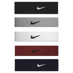 The Nike swoosh bands are high-performance from Nike and absorb a susbstaintial amount of sweat while keeping the player dry and cool. Comes in a variety of colors from red to pink to blue to black and many more.
