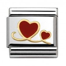 Nomination Love - Two Red Hearts Charm 030283 10