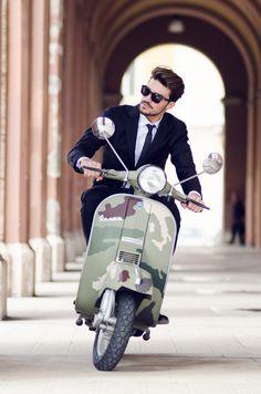 Suit + Camo Vespa!!