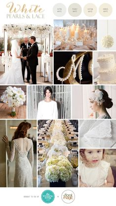 White Pearls and Lace Inspiration Board 2019 White on white wedding inspiration Wedding Theme Inspiration, Wedding Themes, Wedding Decorations, Wedding Dresses, Wedding Ideas, Pearl And Lace, Pearl White, White Lace, Wedding Color Schemes