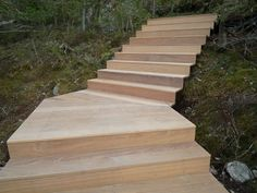 Image 8 of 16 from gallery of Villa Överby / John Robert Nilsson Arkitektkontor. Photograph by John Robert Nilsson Wood Stairs, House Stairs, Landscape Stairs, Landscape Design, Villa, Sweden House, Wooden Steps, Interior Stairs, Garden Architecture