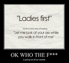 Why Guys Say Ladies First