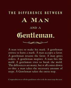 a man vs a gentleman