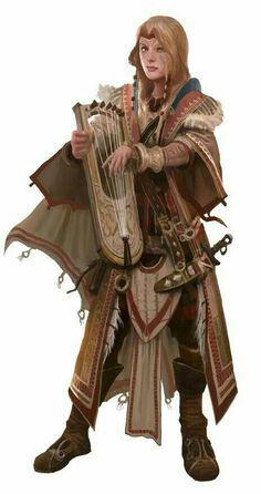Female Skald - Pathfinder PFRPG DND D&D d20 fantasy