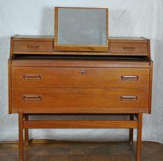 Vinde Möbelfabrik Arne Wahl Iversen Teak danish design Sekretär Schminkkommode  | Antiquitäten & Kunst, Design & Stil, 1950-1959 | eBay!