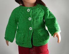 Puppenkleidung - Puppenjacke gestrickt für 40 cm Puppe - ein Designerstück von Monikas-Puppenmode bei DaWanda