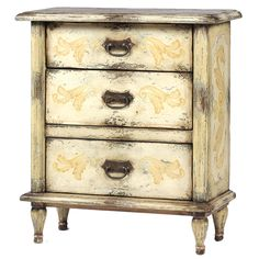 Aged French Country Nightstand