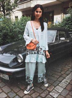 Ganni street style | Nike Van Dinther | Jolly Silk Pants and Jolly Silk Dress