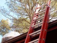 ladder safety for gutter maintenance