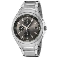 Seiko Men's SND779 Chronograph Grey Dial Stainless Steel Watch