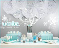 diy winter wonderland baby shower decorations - Google Search