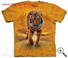 Tricouri The Mountain – Tricou Rising Sun Tiger Tiger T-shirt, Tiger Print, Wild Tiger, Bengal Tiger, Tye Dye, Big Cats, Tshirts Online, Cotton Tee, Graphic Tees