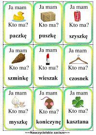 ja mam kto ma gra cz jak czapka Polish To English, Polish Language, Speech And Language, Teaching, Education, School, Kids, Montessori, Child