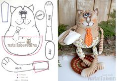 8 molds to make cats fabric Animal Sewing Patterns, Stuffed Animal Patterns, Diy Stuffed Animals, Doll Patterns, Cat Fabric, Fabric Toys, Raggy Dolls, Fabric Animals, Cat Quilt