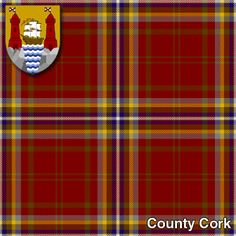 Tartan Kilt for County Cork. Is this right county, Jess? Irish Tartan, Tartan Kilt, Plaid, Irish English, County Cork Ireland, Irish Christmas, Images Of Ireland, Family Roots, Irish Blessing