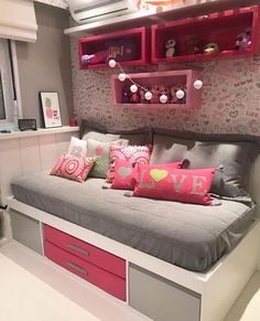 Kids Room Interior: Bedroom by Kumar Interior Thane - the Story - houseinspira Girls Bedroom Storage, Room Ideas Bedroom, Girl Bedroom Designs, Small Room Bedroom, Bedroom Decor, House Furniture Design, Home Room Design, Kids Room Design, Cute Room Decor