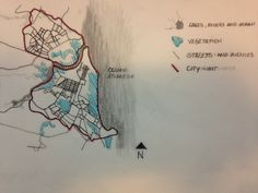 Week 1- Hi, I'm Sofia, and I'm from Brazil. This is the city where I live, Natal, which is northeast of the country and this map is a mind map