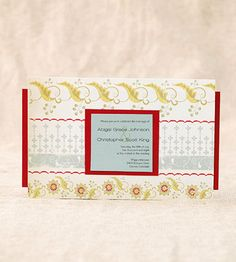All About the Paper...With so many beautiful scrapbook papers, why not use them on your invitations? Make the most out unique paper by creating a horizontal invitation then backing it with a complementary card stock. *Tip: Choose paper with strong pattern then add a complementary card stock for the other layers.