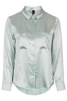 Silk Satin Shirt by Boutique