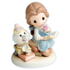 Precious Moments Disney Characters: Belle with Mrs. Potts and Chip aka Mariah, me, and Cameron! My beauty and the beast cast! Disney Love, Disney Magic, Disney Dream, Walt Disney, Disney Precious Moments, Precious Moments Figurines, Disney Figurines, Collectible Figurines, Musical Snow Globes