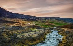 Every time I visit this little stream in the northern part of Iceland, it seems exactly the same. It makes me wonder if it ever gets high or low or just flows perfectly all the time. - Akueryri, Iceland - Photo from #treyratcliff Trey Ratcliff at http://www.StuckInCustoms.com