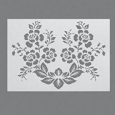Stencils, Pochoir de Haie Rose/1 pièces universelle, DIN A 4: Amazon.fr: Cuisine…