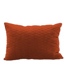 This Rust Ripple Plush Throw Pillow is perfect! #zulilyfinds