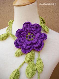 Red Heart Free Scarf Patterns | Flowers Edging Crochet Patterns Scarf Embellishments | eBay