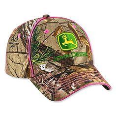 d87fe007475 Ladies John Deere Realtree Camo Hat Cap w Pink Trim - LP49306   0638302698276  Amazon.com  Books