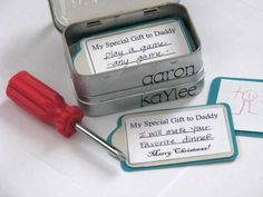 mini altoids tins   Mini Tool Box For Dad with Coupons Inside {altoid tins}   Father's Day