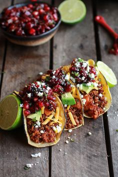 a great recipe for thanksgiving: chipotle quinoa, sweet potato tacos with pomegranate salsa