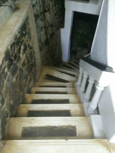 Sri Lanka, staircase.  Marble and wood