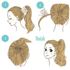 wedding hairstyles easy hairstyles hairstyles for school hairstyles diy hairstyles for round faces p Cute Quick Hairstyles, Hairstyles For School, Pretty Hairstyles, Cute Hairstyles, Braided Hairstyles, Stylish Hairstyles, Hairstyle Ideas, Long Length Hair, Perfect Ponytail