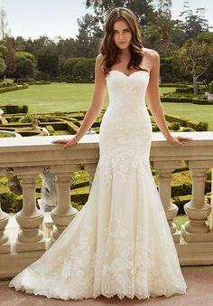 2016 Custom Charming White Lace Wedding Dress,Sexy Sweetheart Bridal Dress,High…