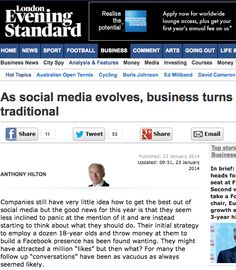 Social business finally recognised by main stream media | simply communicate
