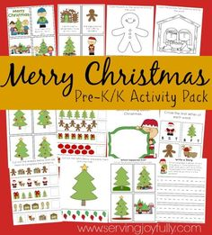 10 FREE Christmas Printable Packets for Kids {200+ Pages!}