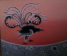 Lyrebird-aboriginal inspiration- by Marisa Sketch Painting, Wall Art, Sketching, Artwork, Animals, Illustrations, Inspiration, Image, Ideas
