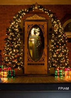 designer christmas decorating ideas for front porch | Front Door Christmas Decorating Ideas