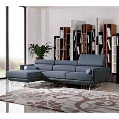Divani Casa Pierce Modern Fabric Sectional Sofa - Sectional Sofas at Hayneedle