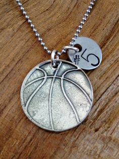 Basketball Necklace - Hand Stamped