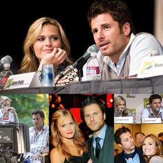James Roday and Maggie Lawson  --  I love the way they look at each other