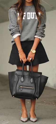 sweatshirt/skirt combo