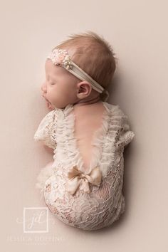 Lace newborn romper newborn photo outfit baby romper for   Etsy