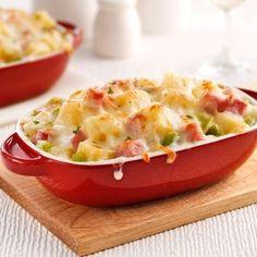 Gratin de jambon, poireaux et fromage suisse - Soupers de semaine - Recettes 5-15 - Recettes express 5/15 - Pratico Pratique