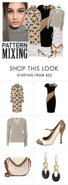 """Head-to-Toe Pattern Mixing - Romantic Mix"" by selene-cinzia ❤ liked on Polyvore featuring Burberry, Phase Eight, Dorothy Perkins, Marc Jacobs, T-shirt & Jeans, Michael Kors, Jules Smith and patternmixing"
