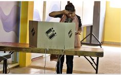 Students of Delhi University and Jawaharlal Nehru University today queued up at various polling centres at their respective campuses to cast their votes for the elections to their union bodies. Over 50 candidates in the two premier varsities are v