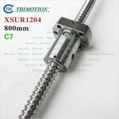Taiwan TBI SFU1204 C7 ball screw 800 mm with XSU single ballnut XSU1204 and machined for 3d printer parts CNC kit 12mm set #Affiliate