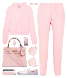 """""""Pink"""" by fashionwwonderland ❤ liked on Polyvore featuring Vetements, Hermès, Vans, Quay, Christian Dior and Humble Chic"""